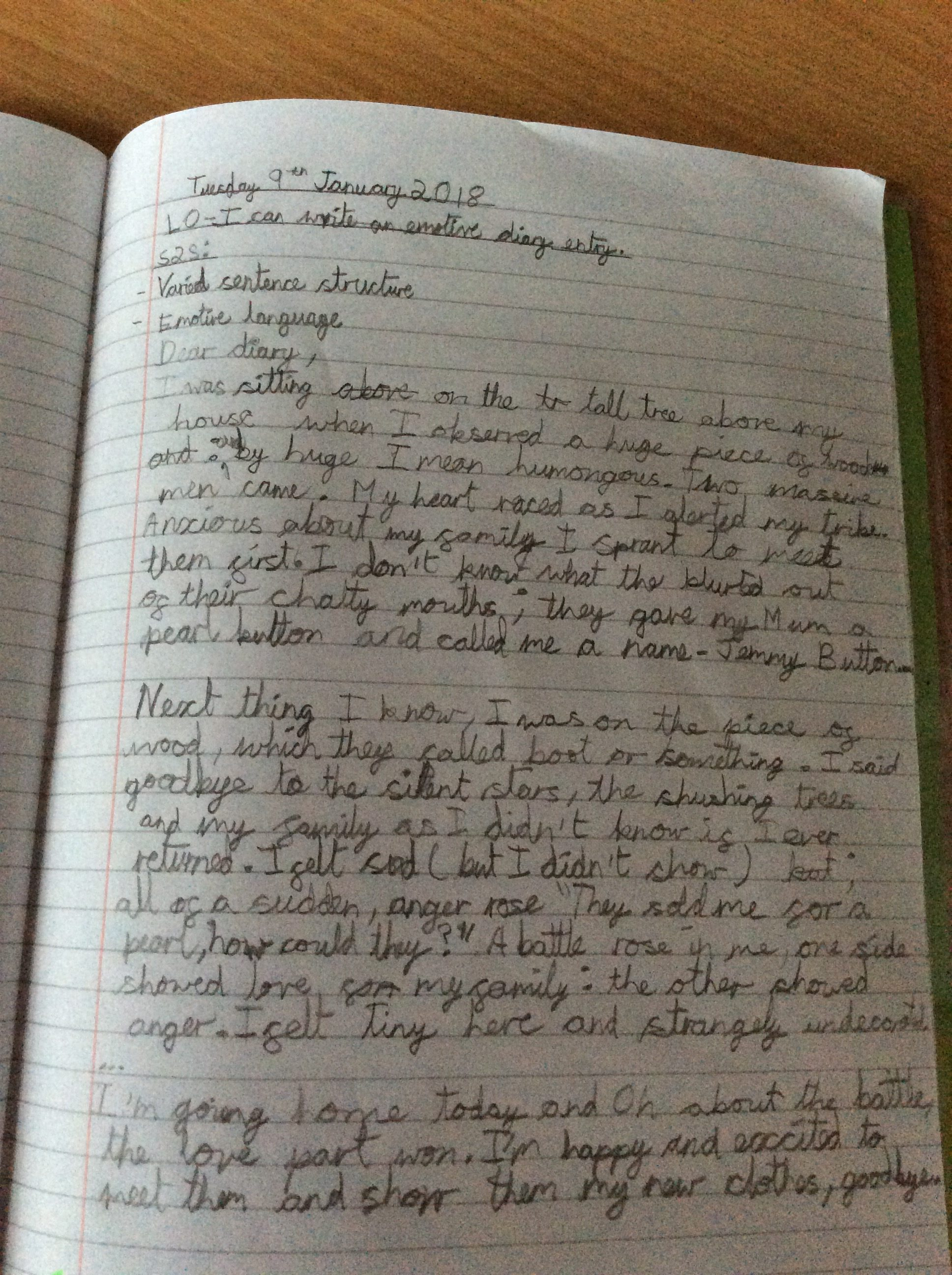 Writer Of The Week 10th January 2018 Year 6